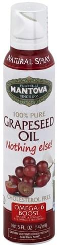 Mantova 100% Pure, Natural Spray Grapeseed Oil - 5 oz