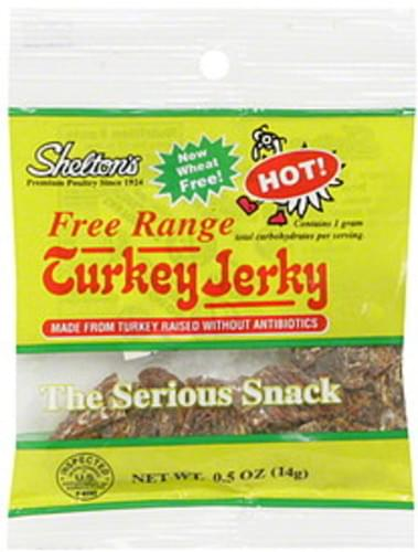 Sheltons Hot Turkey Jerky - 0.5 oz