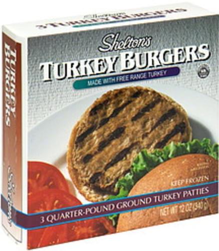 Sheltons Turkey Burgers - 12 oz