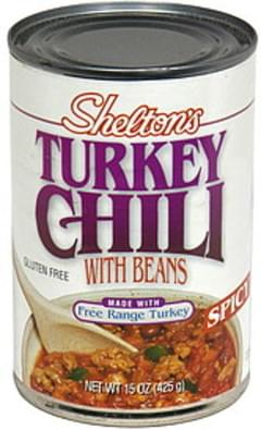 Sheltons Turkey Chili with Beans, Spicy