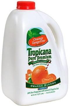 Tropicana Orange Blends with Calcium, Orange Tangerine, No Pulp