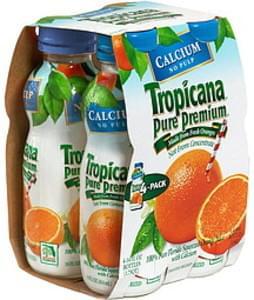 Tropicana Orange Juice with Calcium, No Pulp