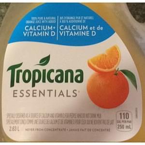 Tropicana Essentials Orange Juice with Calcium and Vitamin D
