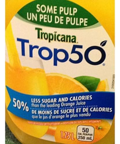 Tropicana Trop50 Orange Juice - 250 ml