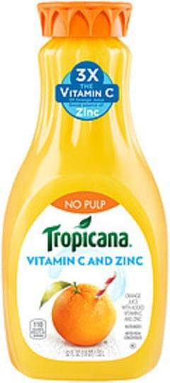 Tropicana Tropicana No Pulp Orange Juice No Pulp Orange