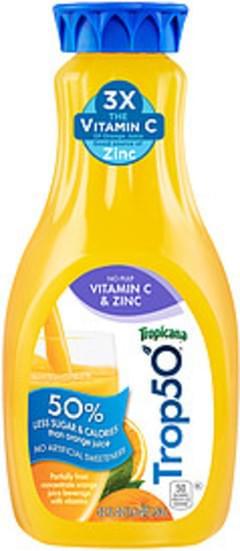 Trop50 Tropicana Trop50 No Pulp Vitamin C & Zinc Orange Juice Trop50 No Pulp Vitamin C & Zinc