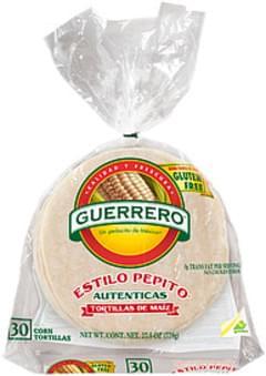 Guerrero Tortillas Estilo Pepito Corn