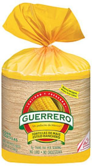 Guerrero Corn De Maiz Estilo Ranchero Tortillas - 4.58 lb