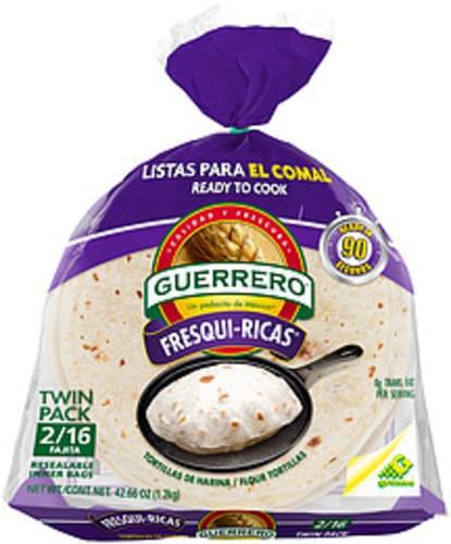 Guerrero Fresqui Ricas Fajita Flour Tortillas 42 66 Oz Nutrition Information Innit