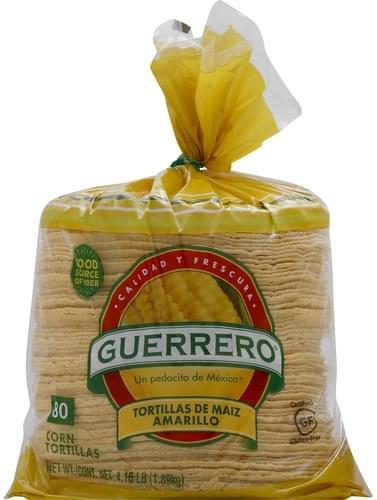 Guerrero Tortillas De Maiz Amarillo Tortillas, Corn - 80 ea