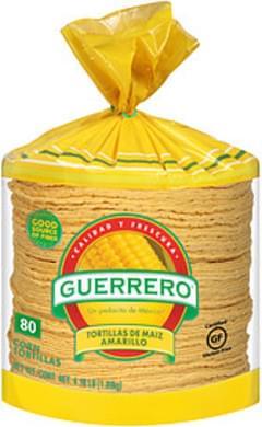 Guerrero Guerrero Tortillas De Maiz Amarillo Corn Tortillas Tortillas De Maiz Amarillo