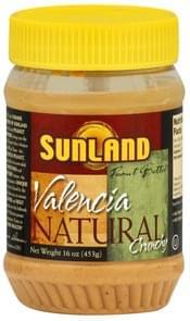 Sunland Peanut Butter Valencia, Natural, Crunchy