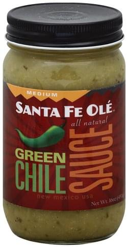 Santa Fe Ole Green Chile, Medium Sauce - 16 oz