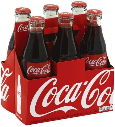 Coca Cola Soda - 6 ea