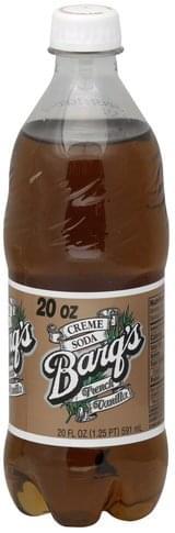 Barqs French Vanilla Creme Soda - 20 oz