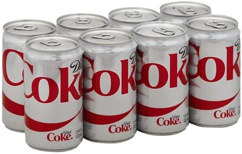 Diet Coke Cola - 8 ea