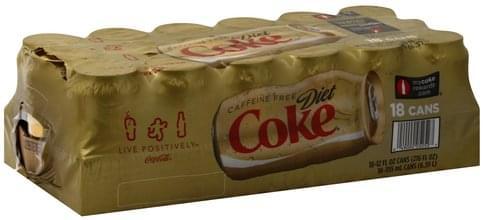 Diet Coke Cola - 18 ea