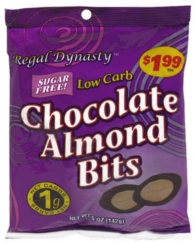 Regal Dynasty Pre-Priced Sugar Free Chocolate Almond Bits - 5 oz