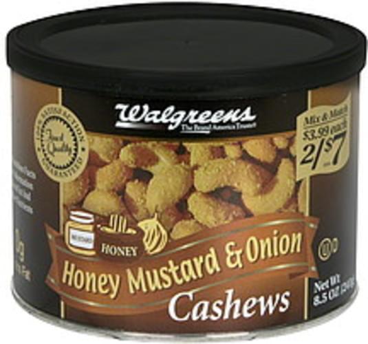 Walgreens Honey Mustard & Onion Cashews - 8 5 oz, Nutrition