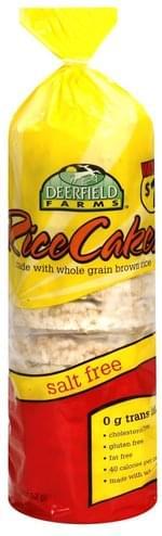 Deerfield Farms Salt Free Rice Cakes - 4.5 oz