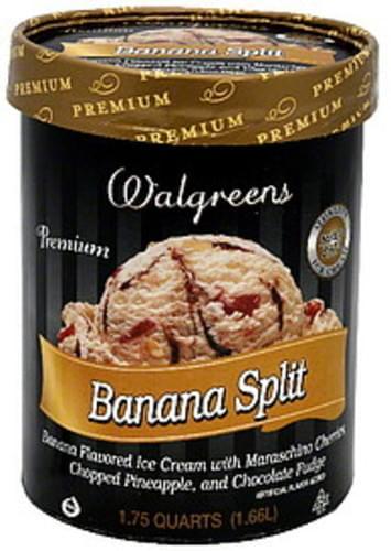 Walgreens Banana Split Ice Cream - 1 75 QT, Nutrition