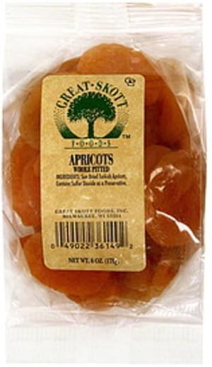 Great Skott Whole Pitted Apricots - 6 oz