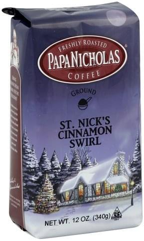 PapaNicholas Ground, St  Nick's Cinnamon Swirl Coffee - 12