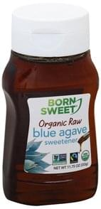 Born Sweet Sweetener Organic, Blue Agave, Raw