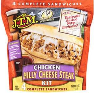 J.t.m. Philly Cheese Steak Chicken Kit W/4 Complete Sandwiches
