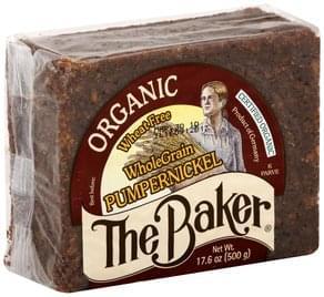 The Baker Bread Organic, Whole Grain, Pumpernickel
