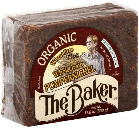The Baker Organic, Whole Grain, Pumpernickel Bread - 17.6 oz