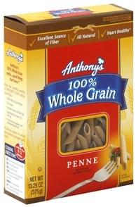 Anthonys Penne 100% Whole Grain