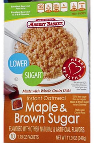 Market Basket Instant Oatmeal Maple & Brown Sugar - 34 g