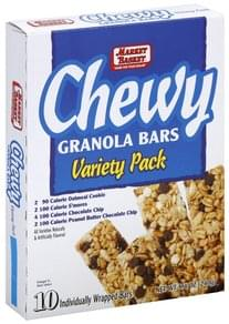 Market Basket Granola Bars Chewy, Variety Pack