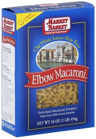 Market Basket Elbow Macaroni - 16 oz