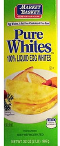 Market Basket Pure Egg Whites - 46 g