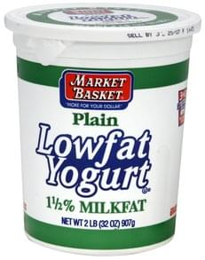 Market Basket Lowfat Yogurt Plain