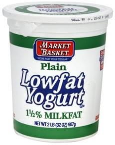 Market Basket Lowfat Yogurt Plain
