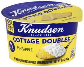 Knudsen Cottage Cheese 2% Milkfat, Lowfat, Pineapple