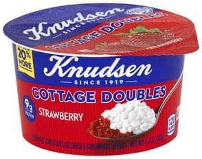 Knudsen Cottage Cheese 2% Milkfat, Lowfat, Strawberry