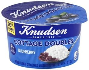 Knudsen Cottage Cheese 2% Milkfat, Lowfat, Blueberry Topping