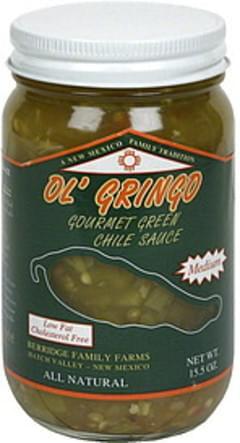 Ol Gringo Gourmet Green Chile Sauce Medium