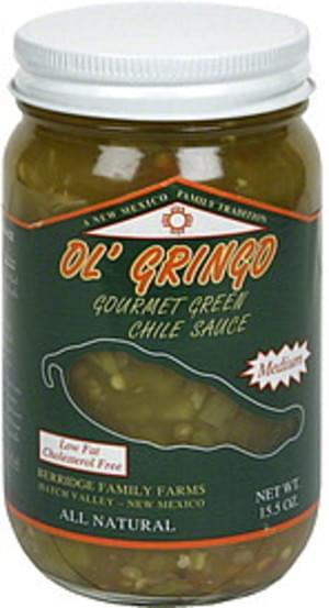 Ol Gringo Medium Gourmet Green Chile Sauce - 15.5 oz