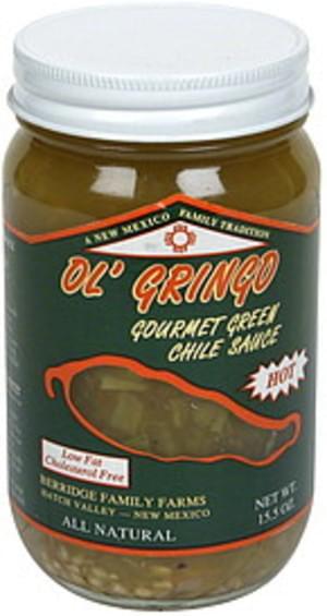 Ol Gringo Hot Gourmet Green Chile Sauce - 15.5 oz