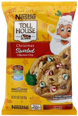 Toll House Christmas Chocolate Chip Cookie Dough 24 Ea Nutrition
