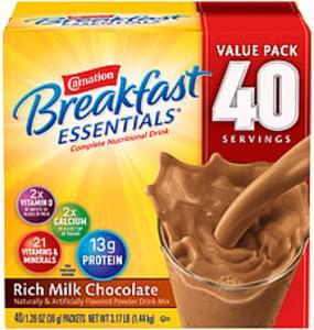 Carnation Breakfast Essentials Carnation Breakfast Essentials Rich Milk Chocolate Rich Milk Chocolate
