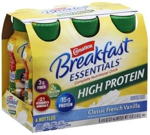 Carnation Complete Nutritional Drink High Protein, Classic French Vanilla