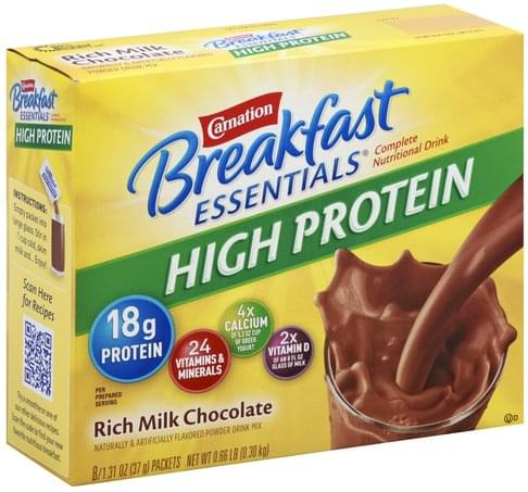 Carnation Complete, High Protein, Rich Milk Chocolate, Drink Mix Nutritional Drink - 8 ea