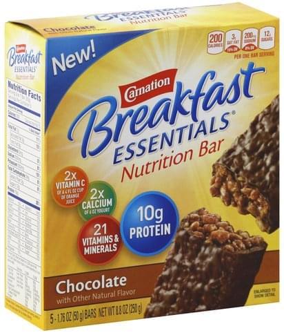 Carnation Chocolate Nutrition Bar - 5 ea