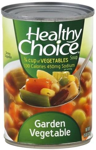 Healthy Choice Garden Vegetable Soup 15 Oz Nutrition